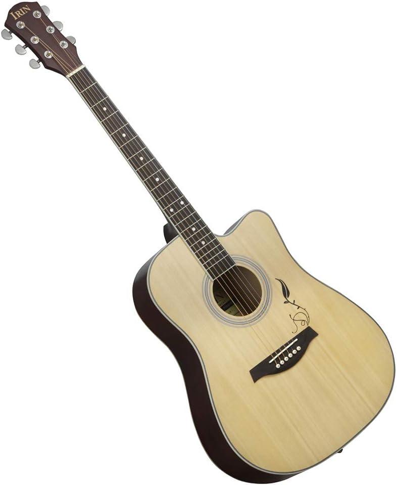 BLKykll Guitarra Acústica,Patrón Spruce Panel 41 Pulgadas Guitarra ...