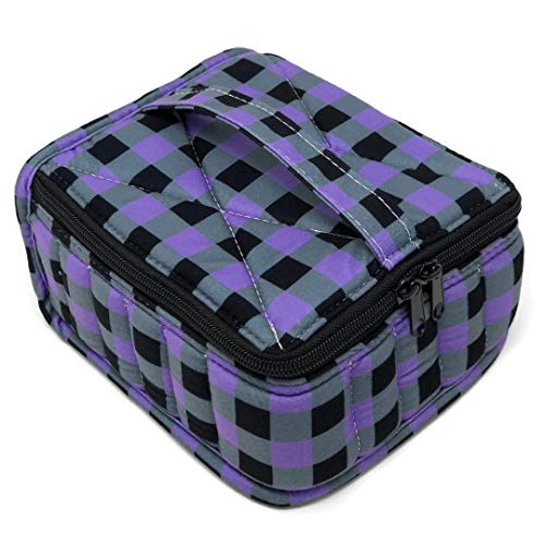 Lattice Bottle - Essential Oil Carrying Case Organizer Tote - Holds 30 Bottles (15, 10 or 15ml) for Aromatherapy Storage or Travel (Purple Lattice)