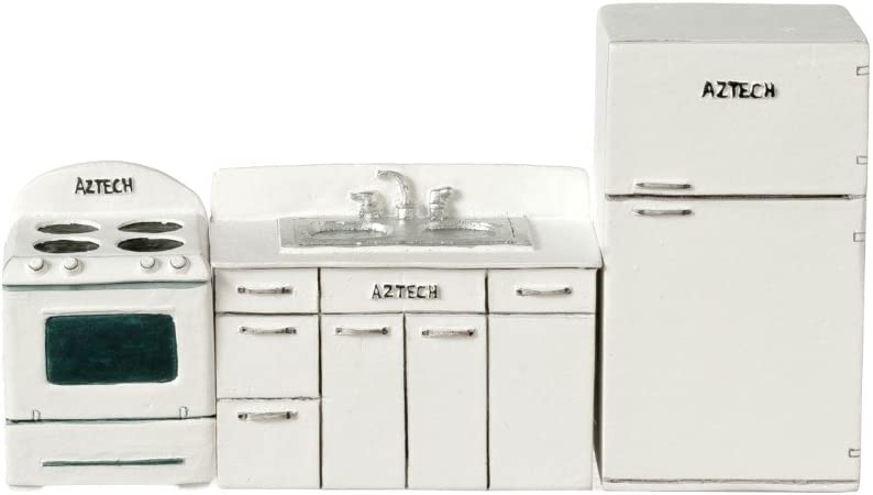 Dollhouse Miniature White Refrigerator Aztec Imports Inc.