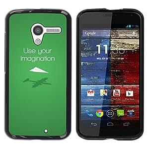Caucho caso de Shell duro de la cubierta de accesorios de protección BY RAYDREAMMM - Motorola Moto X 1 1st GEN I - Usa tu imaginación