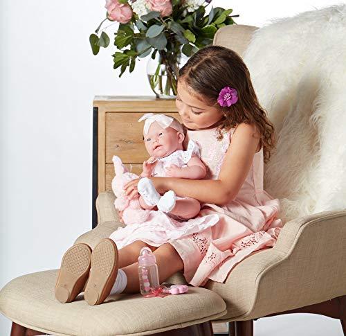 "514axhxBmiL - JC Toys La Newborn Baby Play Dolls, White, Pink, 15"""