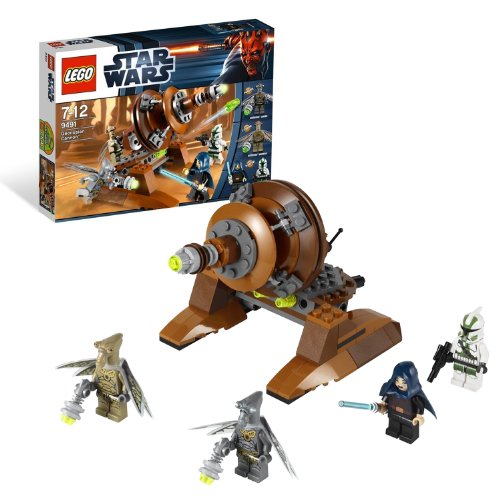 Lego Year 2012 Star Wars Series Battle Scene Set #9491 - GEONOSIAN CANNON with 2 Flick Missiles Plus Barriss Offee, Clone Commander Gree, Geonosian Warrior and Geonosian Zombie Minifigures (Total Pieces: 132)