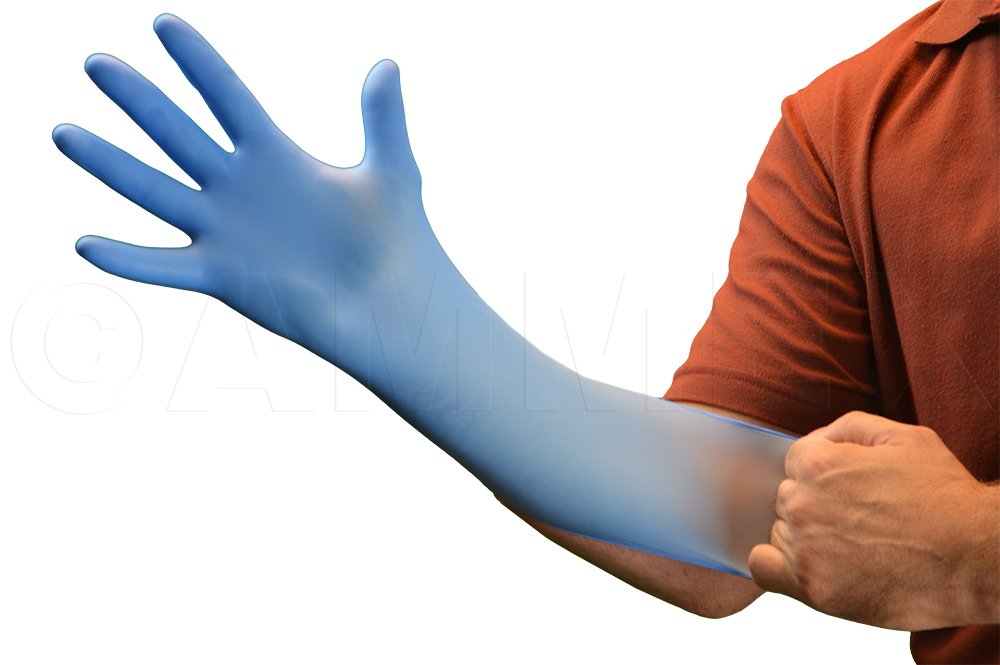 AMMEX - X3D49100 - Nitrile Gloves - Disposable, Powder Free, Latex Free, 3mil, Food Safe, XXLarge, Blue (Case of 2000) by Ammex (Image #2)