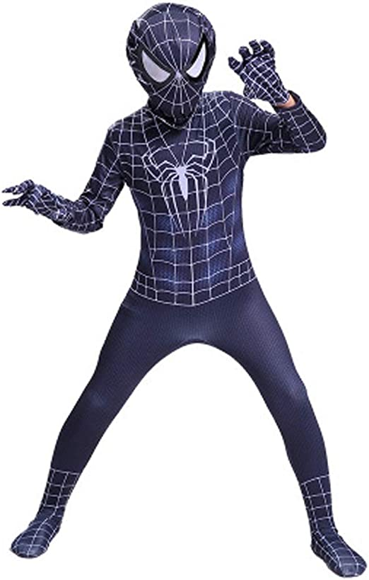 YUNMO Traje de Spider-Man Traje de Spiderman Negro - Unisex ...