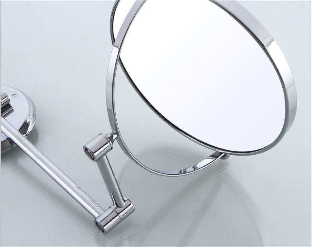 KIEYY Durable pared libre del sacador Espejo de bantilde;o completo completo completo de cobre de 8 pulgadas de doble cara espejo de aumento de cristal del espejo de belleza Beauty Hotels 3d1039