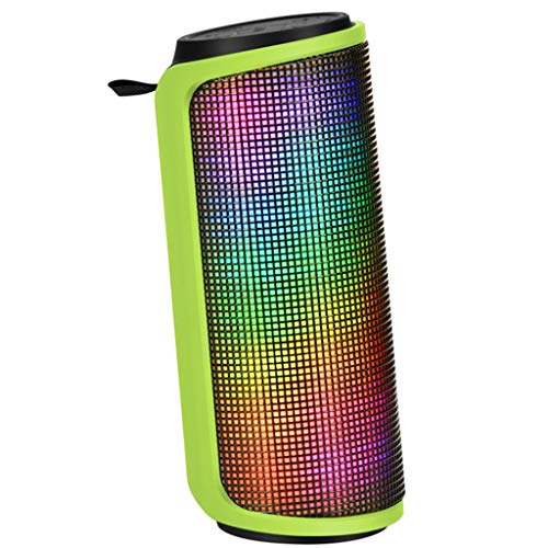Guansung Bluetooth Speaker Music Pulse Colorful Light 1500mAh Mini Speaker Computer Speaker Portable Card Subwoofer Waterproof