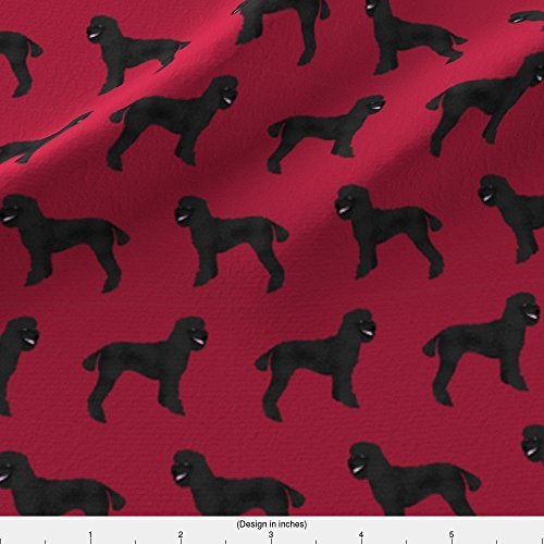 Spoonflower Poodle Fabric Poodle Fabric Black Poodles Fabric Cute Poodle Design Black Poodles Fabric For Sewing by Petfriendly Printed on Fleece Fabric by the Yard - Poodle Black Fleece