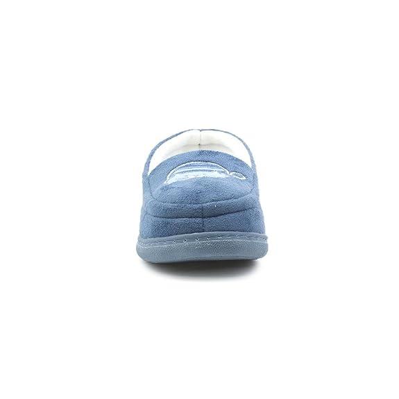 Slipper The Company - Lila Blumenvelour-Mokassin Pantoffeln für Frauen - Größe 9 UK/43 EU - Violett IBXUaU5yzJ
