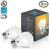 Triangle Bulbs T90020 (Pack of 2) G16 Decorative Globe Light Bulbs 300 Lumen 5-watt LED Light Bulb with E26 Base, Color 3000K, Dimmable, UL Listed, Energy star certified,