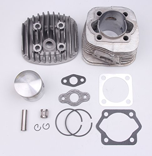 2 stroke 80cc 47MM Cylinder Piston Gasket Pin Ring Kit for Motorized Bicycle Bike Engine - 2 Cylinder Stroke