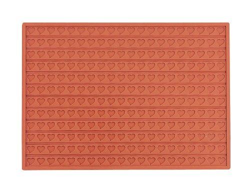 Martellato 9 Silicone Heart Relief Mat, 30 mm, Brown