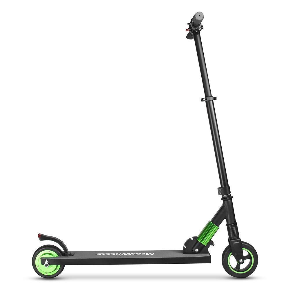 MegaWheels Patinete Eléctrico Plegable Scooter 8.5kg Ultra Ligeros Velocidad Máxima 23km/h para Corta Distancia, Adolescentes y Adultos (Verde)