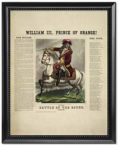 ClassicPix Black Wood Framed Print 8x10: William III, Prince of Orange! at The Battle of The Boyne. (King William Of Orange Battle Of The Boyne)