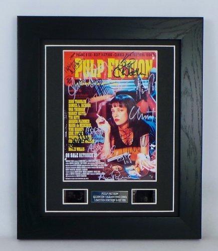 - Pulp Fiction Signed + Pulp Fiction Film Cells Framed by artcandi