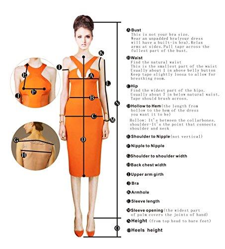 Bbonlinedress Vestidos de Fiesta de Boda Cortos de Gasa Sin Tirantes Naranja