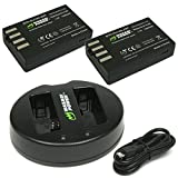 Wasabi Power Battery (2-Pack) and Dual USB Charger for Pentax D-LI109 and Pentax K-30, K-50, K-70, K-500, K-r, KP