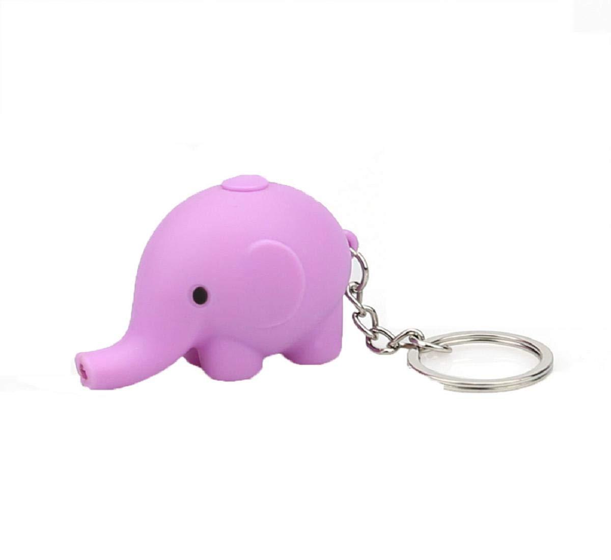 Koojawind Trousseau de Dessin animé de Forme d'éléphant avec LED lumière Son Porte-clés Enfants Jouet Cadeau, Porte-clés Cadeau Pendentif clé, Porte-clés Enfants Jouet Cadeau