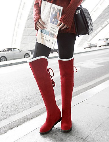 Eu42 Botas Rojo Redonda Cn43 5 De Vellón Tacón Zapatos Mujer 5 Uk6 Cuña Punta Vestido Brown Marrón La us8 Negro A 5 Xzz Brown Uk Moda Casual us10 Beige 5 Cn40 Eu39 Uk8 x1qa0YSq