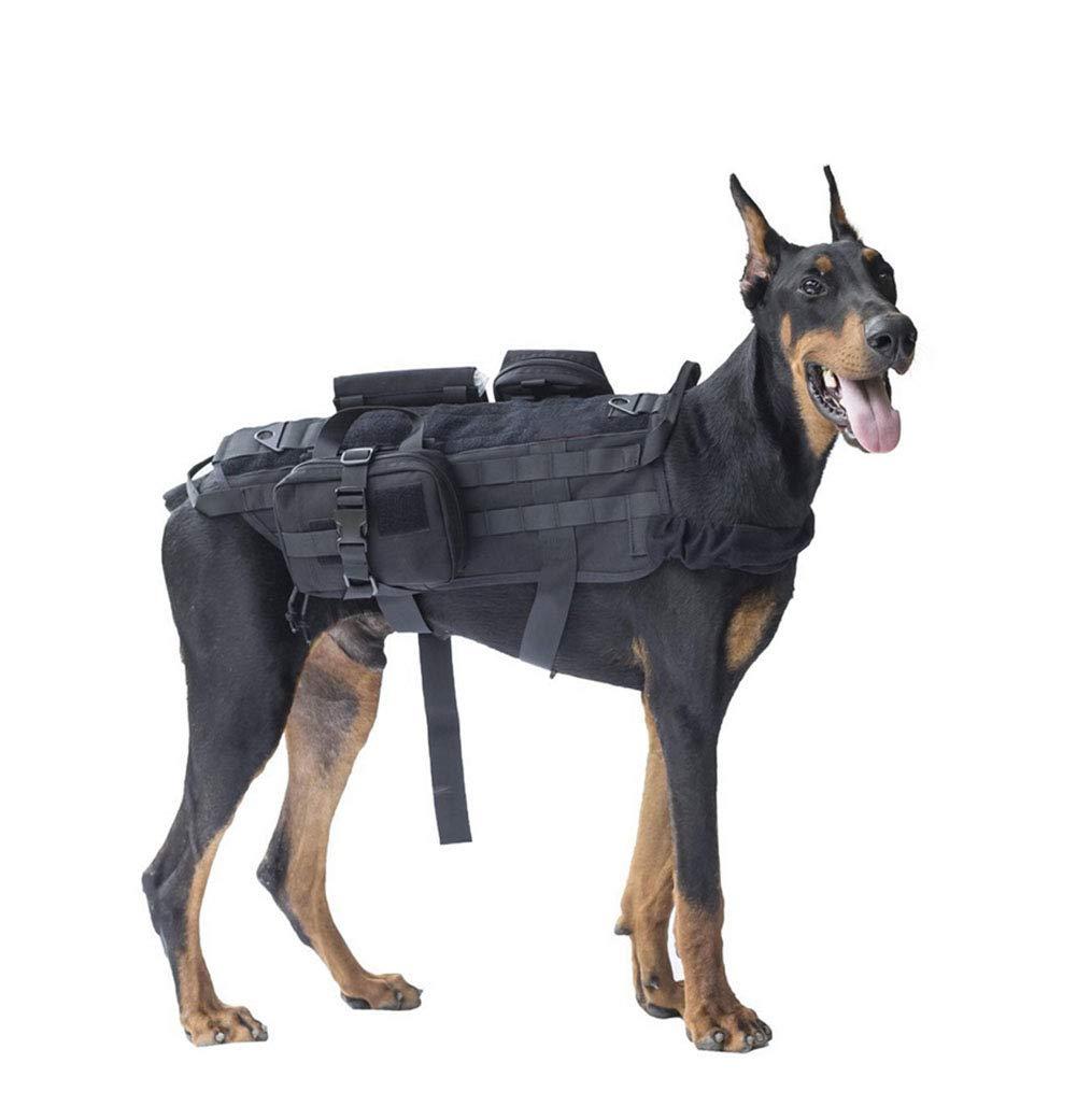 1 XSmallRIRUI Dog Vest, Tactical Dog Vest, Large And Medium Dog Outdoor Tactical Dog Vest, 1000D Nylon, Waterproof, Quick Drying,1,XS