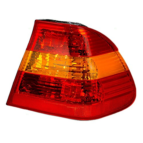 Passengers Taillight Tail Lamp with Red & Amber Lens Replacement for BMW 63216946534