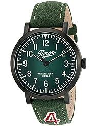 Timex Unisex TW2P83300 Originals University Green Leather Strap Watch
