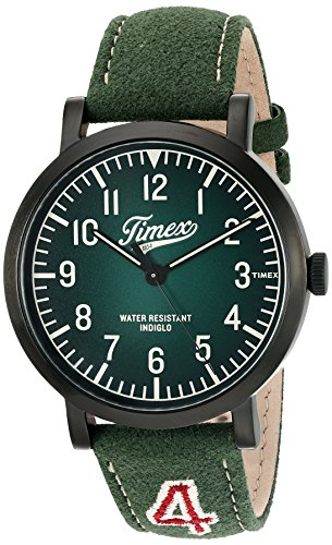 (Timex Unisex TW2P83300 Originals University Green Leather Strap Watch)