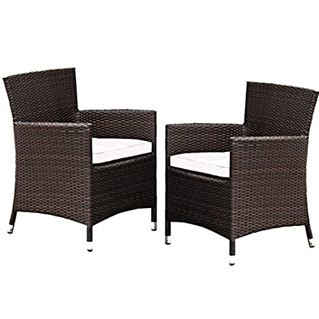 Lot de 2 sillones (resina trenzada dorato Choco: Amazon.es ...