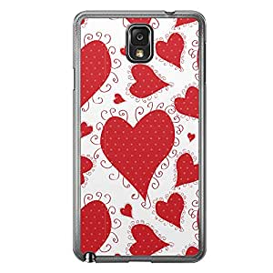 Loud Universe Samsung Galaxy Note 3 Love Valentine Printing Files A Valentine 6 Printed Transparent Edge Case - White/Red