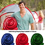 Swift-n-Snug Sleeping Bag Big and Tall Cold Weather 100% Polyester Bag for Boys Girls Men Women Kids & Adults Portable Lightweight Sack for Camping Hiking Travelling Backpacking Zippers