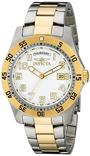 Invicta Men's 6693 II Gold-Plated Stainless Steel White Dial Watch