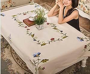 JY$ZB Europea tela de algodón mantel manteles y ropa de mesa de té bordado tela de mesa para la cena en casa de banquetes , 130*175