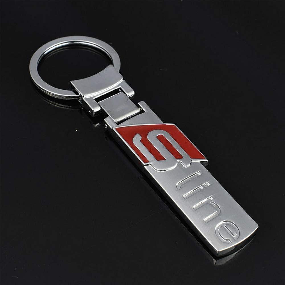 ASTAOT Porte-cl/és,1 Pcs Creative Galvanoplastie Argent M/étal De Voiture Style Porte-Cl/és Accessoires pour Audi S3 S4 S5 S6 Voiture Porte-Cl/és Porte-Cl/és Porte-Cl/és