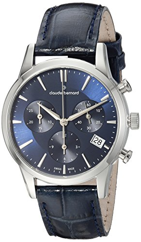 Claude Bernard unisex-adult 10231 3 BUIN Jolie Classic Analog Display Swiss Quartz Blue Watch