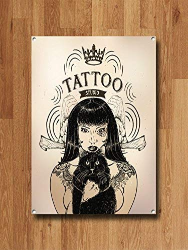 HSSS Tattoo Studio - Cartel metálico de Estilo Moderno para ...