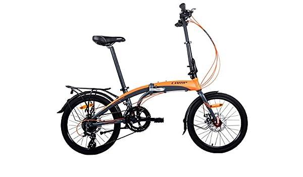 CAMP Bicicleta Plegable para Hombre o Mujer, de Aluminio, 16 velocidades, con imanes, Thunderbolt: Amazon.es: Deportes y aire libre