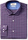 Original Penguin Men's Slim Fit Performance Dress Shirt, Plum, 17.5 36/37