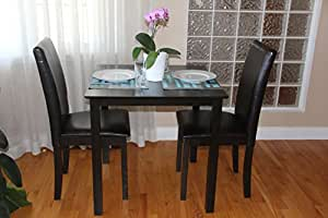 3 Pc Dining Room Dinette Kitchen Set Square Table And 2 Fallabel