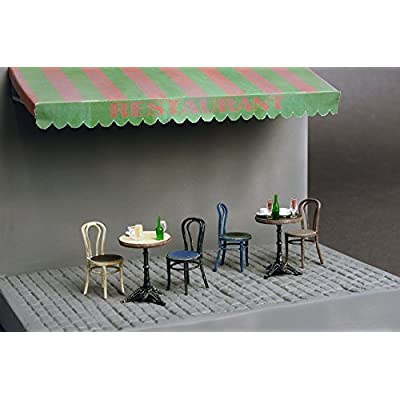 MiniArt PLASTIC MODEL BUILDING KIT DIORAMAS CAFé FURNITURE & CROCKERY 1/35 35569: Toys & Games