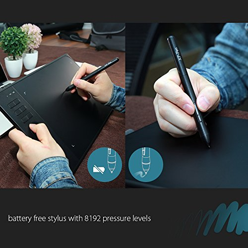 XP-Pen Star06 Wireless 2.4G Graphics Drawing Tablet Digital Tablet Painting Board with 6 Hot Keys-10x6 Inch