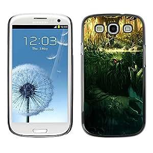 PC/Aluminum Funda Carcasa protectora para Samsung Galaxy S3 I9300 Monster Mystery Cartoon Character / JUSTGO PHONE PROTECTOR