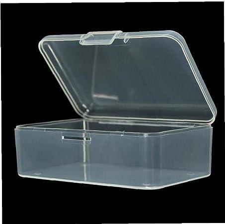 Angoter Pequeña Caja Transparente de plástico de visualización ...