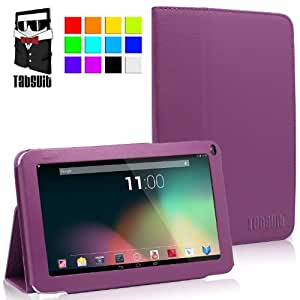 """TabSuit® 9"""" PU Leather case for Dragon Touch A93, KingPad K90, Dragon Touch N90, Astro Tab A924, Neutab N9/N9 Pro, Astro Queo A912, Digital Reins A23, ProntoTec 9"""", Tagital 9"""" A23, Afunta 9"""" A23, iRulu 9"""" Tablet PC and more 9''tablets (Blue)"""