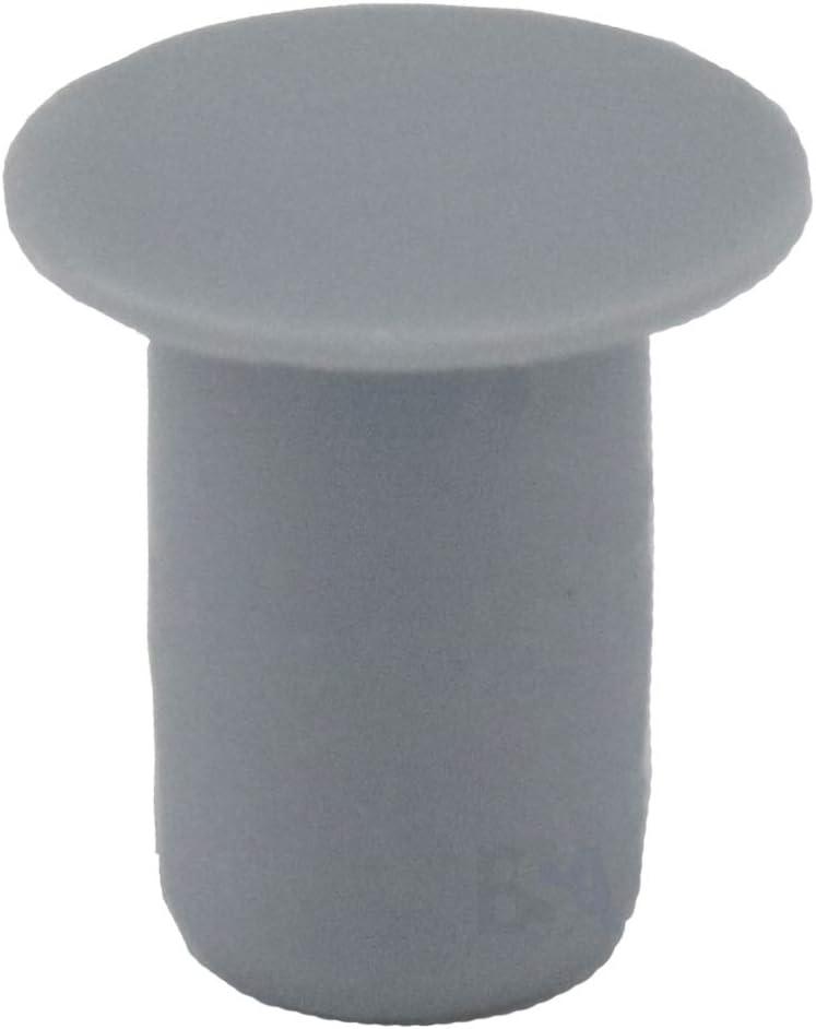 cabeza de 14 mm color gris Irox 20 tapones para orificio de 10 mm pl/ástico