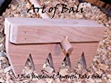 "Art of Bali 48"" 7 Tine Unstained Saw Tooth Zen Garden Rake – Art of Bali Original"