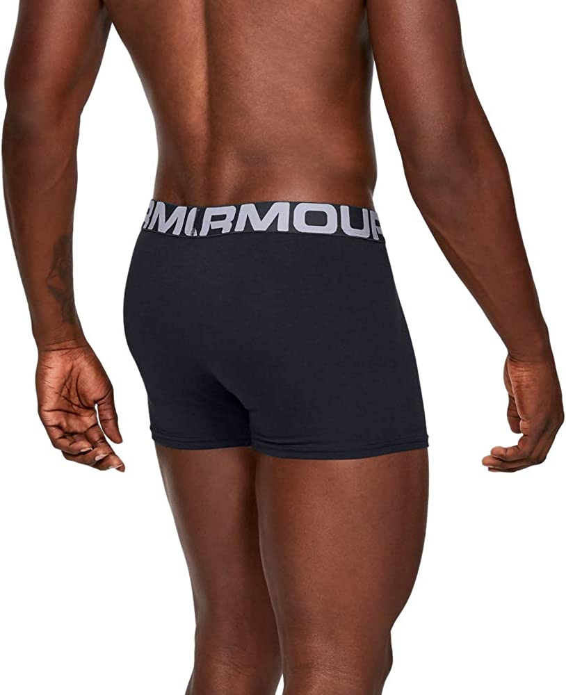 Mens Sports Underwear Boxer Briefs for Men Under Armour Men UA Charged Cotton 3in 3 Pack