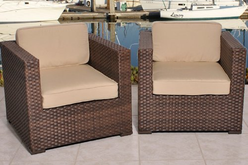 Atlantic Outdoor Arm Chair (Bellagio Deluxe Arm Chair - Set of 2)