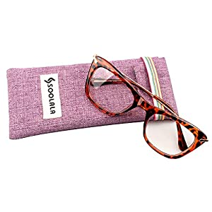 SOOLALA Womens Designer Cat Eye Metal Arms Reading Glasses Customized Strengths, Tortoise, +1.75D