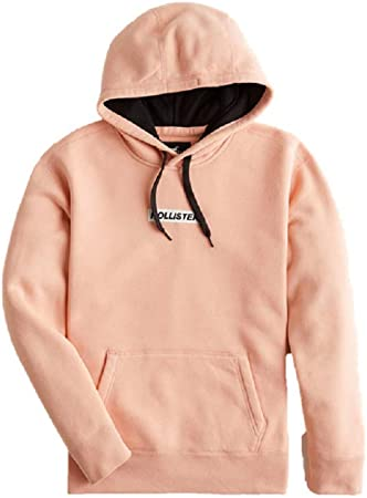 Hollister New Crew Neck ICON Sudadera para hombre, color rosa, talla S/XS