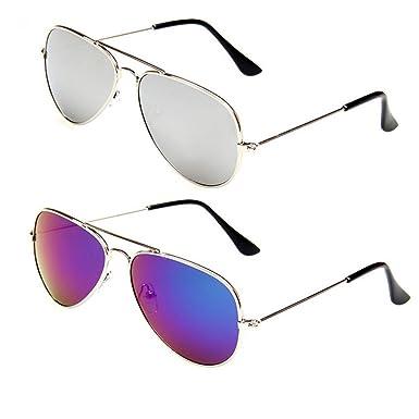 Amazon.com: WODISON Kids Classic Aviator Sunglasses Metal Frame ...