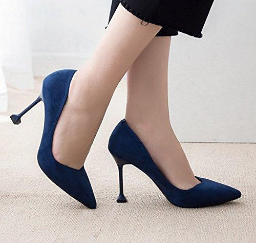 36 Femme Bleu A2 Bleu Escarpins pour Msn2838 Renly 5 HwR60qB
